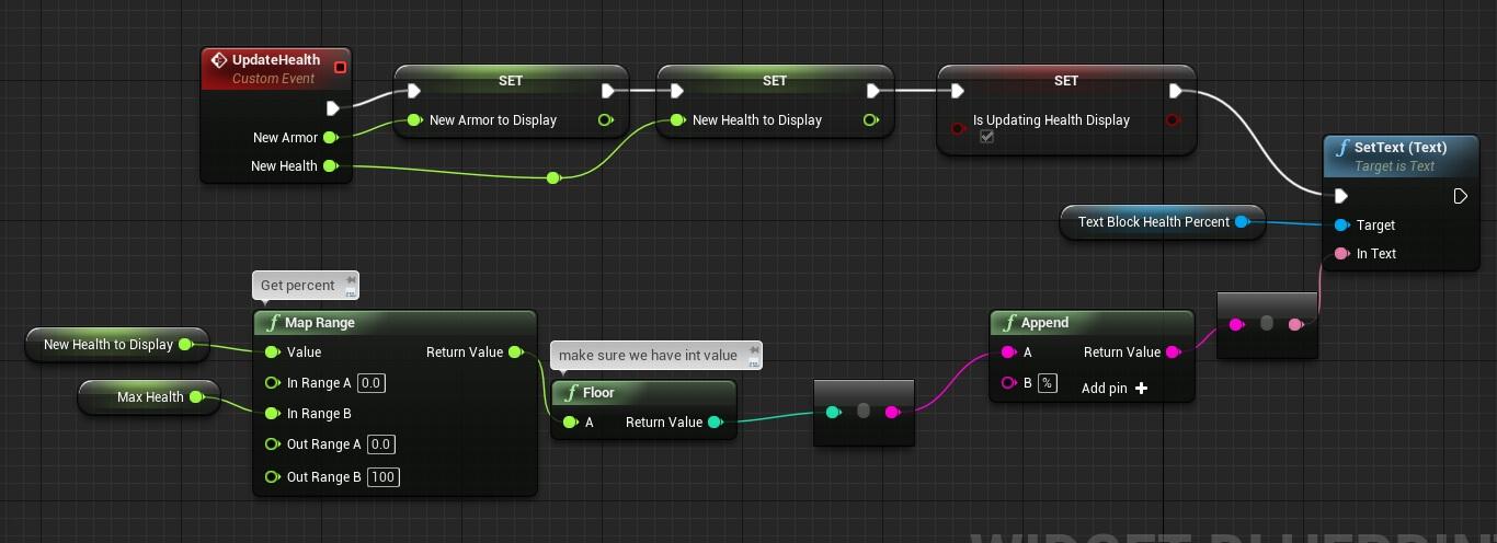 UMG UI: Draw player health and armor | Shooter Tutorial