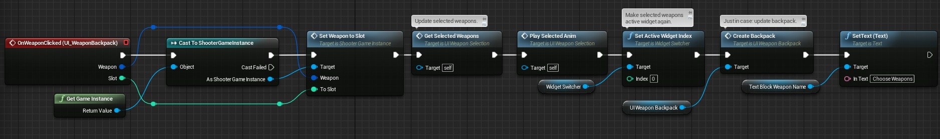 Weapon Selection Screen | Shooter Tutorial